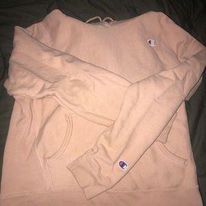 Champion reverse weave nude hoodie